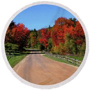 To Where Does The Road Lead Round Beach Towel