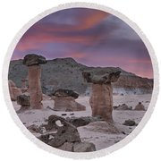 Toadstools Round Beach Towel
