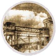 Tobaco Dock London Vintage Round Beach Towel
