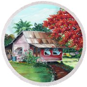 Tobago Country House Round Beach Towel