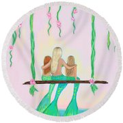 Together Fun Round Beach Towel