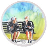 Together Old In Italy 02 Round Beach Towel