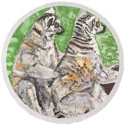 Together Round Beach Towel
