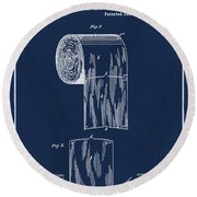 Toilet Paper Roll Patent 1891 Blue Round Beach Towel