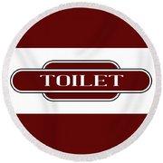 Toilet Station Name Sign Round Beach Towel