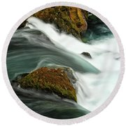 Toketee Falls 5 Round Beach Towel