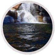 Tokopah Falls Trail Round Beach Towel