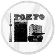 Tokyo Inked Round Beach Towel