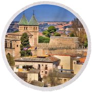 Toledo Town View Round Beach Towel