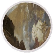 Toltec Gorge And Eva Cliff From The West, Colorado, 1892 Round Beach Towel