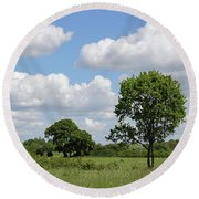 Tolworth Court Nature Reserve In Surrey Round Beach Towel