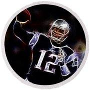 Tom Brady - New England Patriots Round Beach Towel