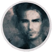 Tom Cruise Round Beach Towel