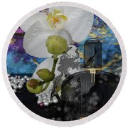 Tom Ford Black Orchid Perfume 2 Round Beach Towel