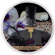 Tom Ford Black Orchid Round Beach Towel