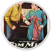 Tom Mix In The Feud 1919 Round Beach Towel