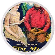 Tom Mix In Treat'em Rough 1919 Round Beach Towel