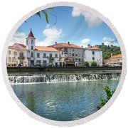 Tomar Cityscape Round Beach Towel