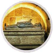 Tomb Of Dona Teresa Round Beach Towel