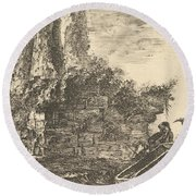 Tomb Of The Three Curiatii Brothers In Albano Round Beach Towel