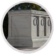 Tomb Of The Unknown Soldier, Arlington Round Beach Towel by Terry Moore