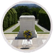 Tomb Of The Unknowns Round Beach Towel