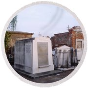 Tombs In St. Louis Cemetery Round Beach Towel