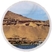 Tombs Of The Nobles Aswan Round Beach Towel