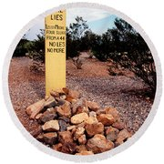 Tombstone Boot Hill Round Beach Towel