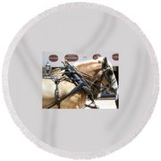Tombstone Horse Round Beach Towel