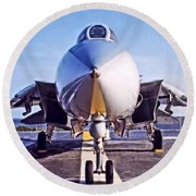 Tomcat Round Beach Towel