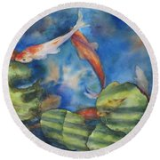 Tom's Pond Round Beach Towel