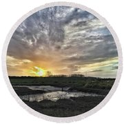 Tonight's Sunset From Thornham Round Beach Towel