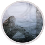 Tons Of The Loneliness V2 Round Beach Towel