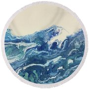 Too Blue Round Beach Towel