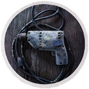 Tools On Wood 28 Round Beach Towel by YoPedro