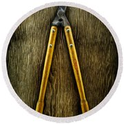 Tools On Wood 34 Round Beach Towel