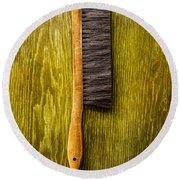 Tools On Wood 52 Round Beach Towel
