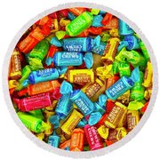 Tootsie Fruit Chews Round Beach Towel