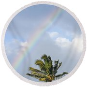 Top Of A Palm Tree Round Beach Towel