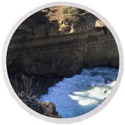 Top Of The Cove Round Beach Towel