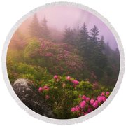 Top Of The Mornin' Round Beach Towel