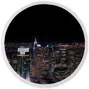 Top Of The Rock 3 Round Beach Towel