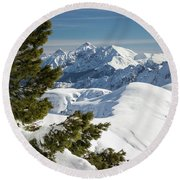 Top Of The Top - Lombardy / Italy Round Beach Towel
