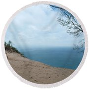 Top Side Round Beach Towel
