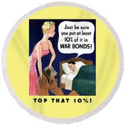 Top That -- Ww2 Propaganda Round Beach Towel