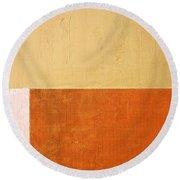 Topaz Pink Orange Round Beach Towel