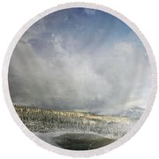 Topic Of Duality Winter-summer Round Beach Towel