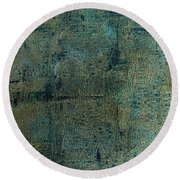 Topography Round Beach Towel