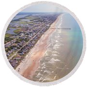 Topsail Buzz Surf City Round Beach Towel